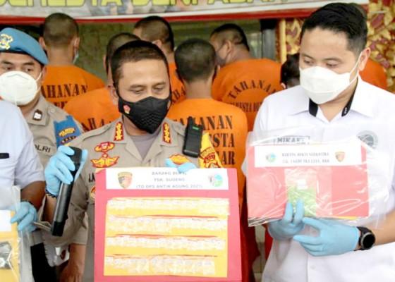 Nusabali.com - satres-narkoba-polresta-denpasar-panen-tangkapan