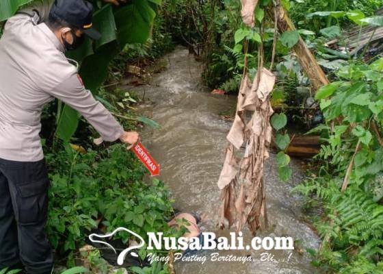 Nusabali.com - jasad-wanita-di-saluran-irigasi-gegerkan-warga-buruan