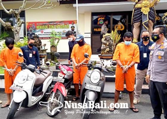 Nusabali.com - polsek-ubud-gulung-komplotan-curanmor