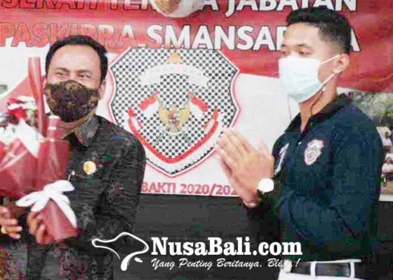 Nusabali.com - sman-1-amlapura-ganti-pengurus-paskibra