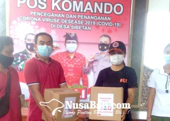 Nusabali.com - bpbd-serahkan-bantuan-sembako-csr-pertamina
