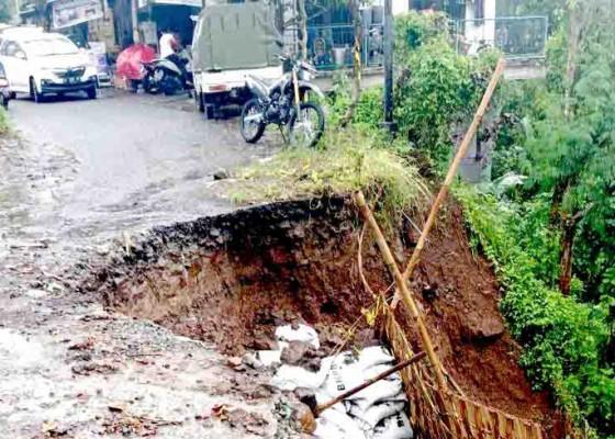 Nusabali.com - jalan-darurat-di-desa-sekumpul-kembali-ambrol