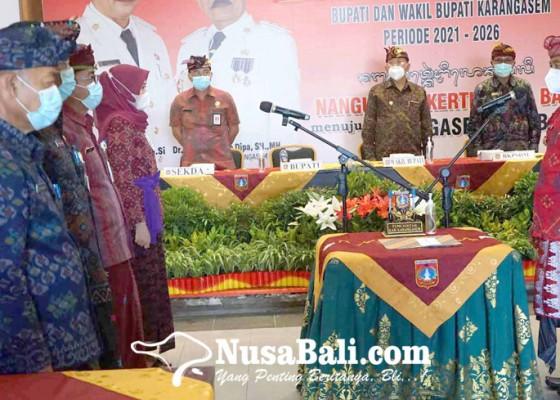 Nusabali.com - bupati-gede-dana-lantik-97-tenaga-fungsional