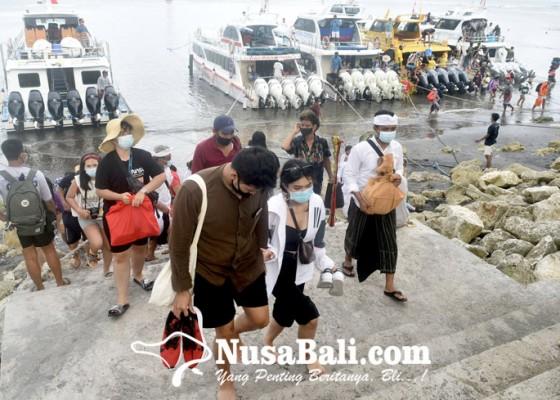 Nusabali.com - long-weekend-lonjakan-penumpang-di-pelabuhan-sanur-capai-35-persen
