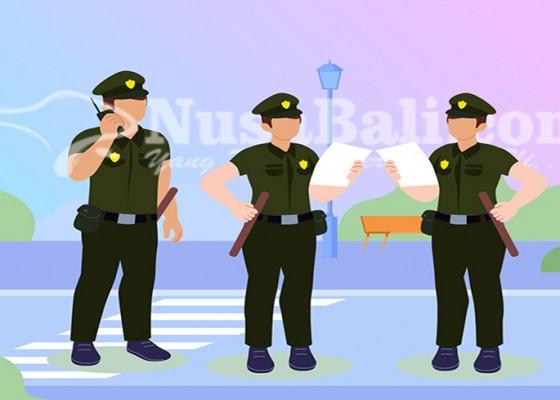Nusabali.com - nekat-jualan-di-trotoar-satpol-pp-amankan-10-pedagang-di-kuta
