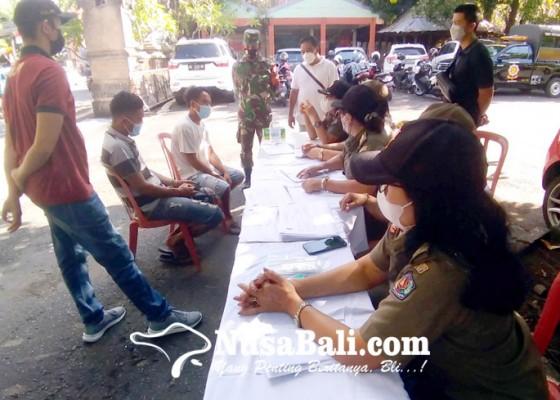 Nusabali.com - operasi-prokes-9-orang-pelanggar-terjaring