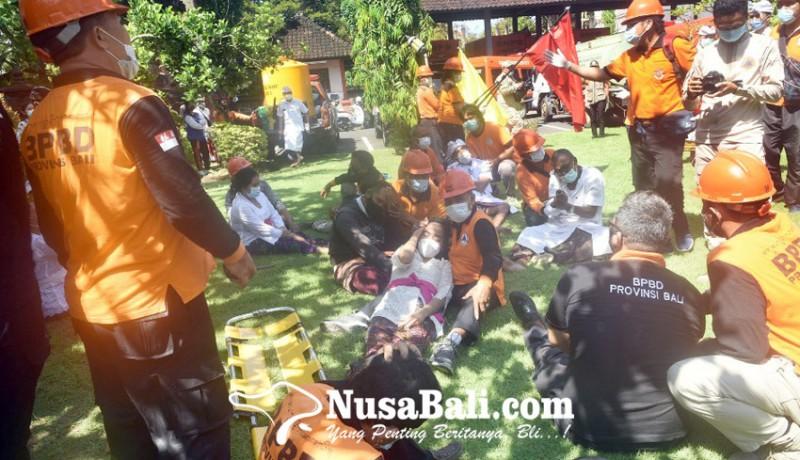 www.nusabali.com-bpbd-bali-gelar-simulasi-siaga-bencana-alam