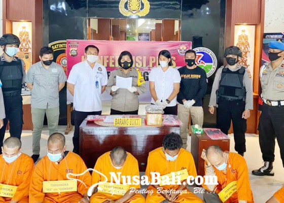 Nusabali.com - sebulan-ungkap-4-kasus-dan-6-tersangka