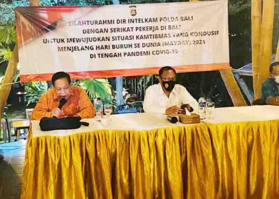 Nusabali.com - hari-buruh-dir-intelkam-temui-serikat-pekerja-di-bali