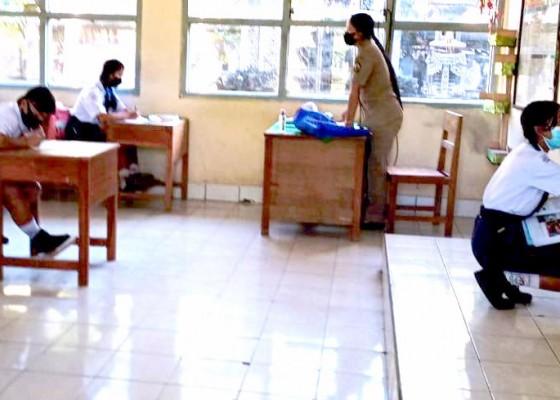 Nusabali.com - sejumlah-sd-dan-smp-di-bangli-gelar-ptm