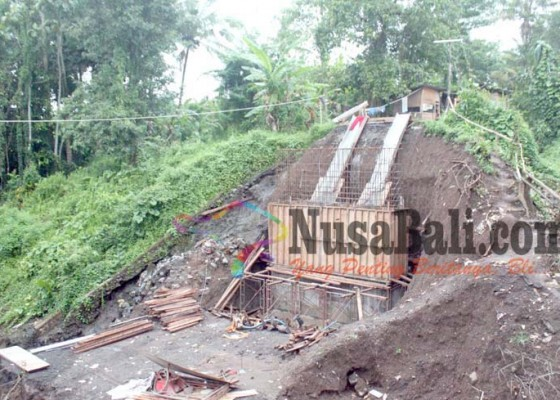 Nusabali.com - pembangunan-jembatan-tajen-tunjuk-terkendala-cuaca