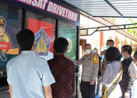 Nusabali.com - polres-jembrana-launching-layanan-sim-dan-samsat-drive-thru