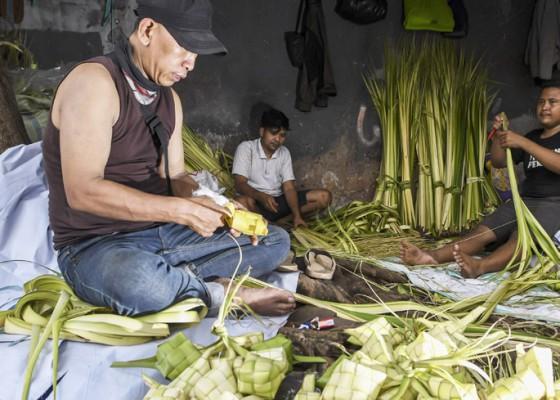 Nusabali.com - permintaan-kulit-ketupat-meningkat
