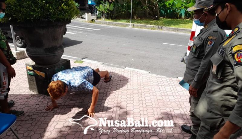 www.nusabali.com-salah-pakai-masker-6-orang-disanksi-push-up