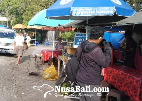 Nusabali.com - terdampak-pandemi-omzet-pedagang-di-jalur-shortcut-titik-5-6-anjlok
