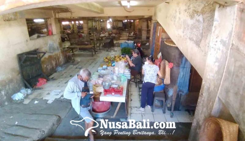 www.nusabali.com-pedagang-pasar-senggol-kumbasari-keluhkan-omzet-anjlok