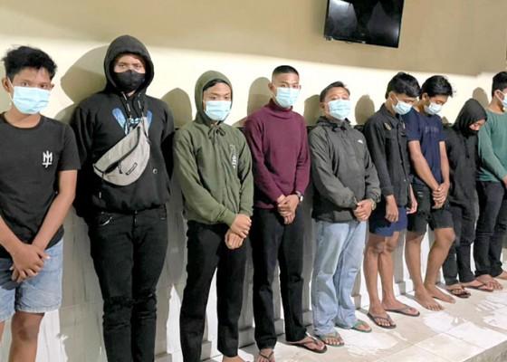 Nusabali.com - cegah-balap-liar-polsek-sukawati-amankan-9-remaja