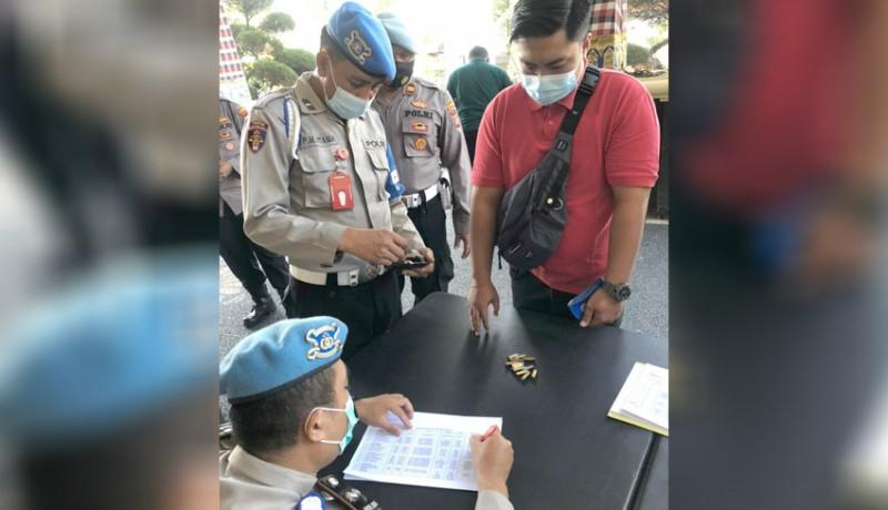 www.nusabali.com-propam-polres-badung-periksa-73-pucuk-senpi-personel