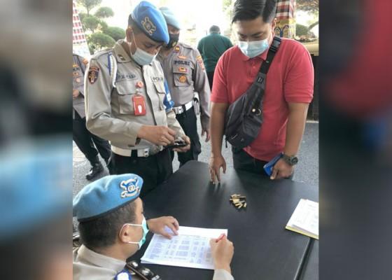 Nusabali.com - propam-polres-badung-periksa-73-pucuk-senpi-personel