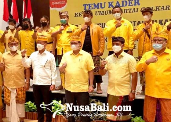 Nusabali.com - briefing-kader-golkar-bali-airlangga-belum-putuskan-nyapres