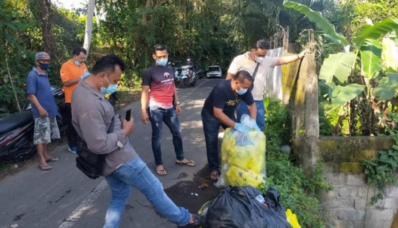 www.nusabali.com-polres-gianyar-cari-pelaku-pembuang-35-kilogram-limbah-medis