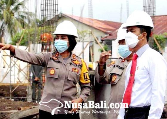 Nusabali.com - kapolres-karangasem-pantau-proyek-gedung-satpas
