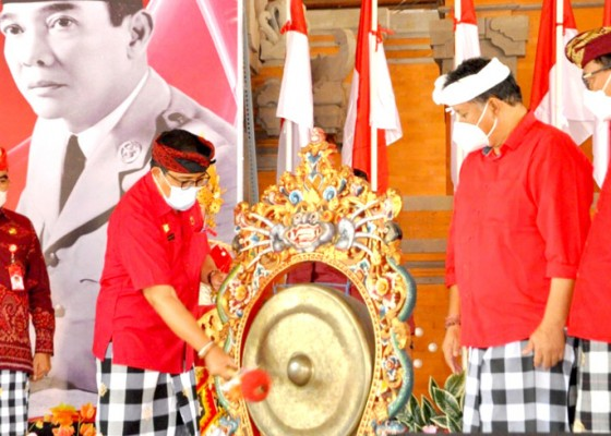 Nusabali.com - bulan-bung-karno-bupati-sanjaya-gaungkan-tri-sakti-bung-karno