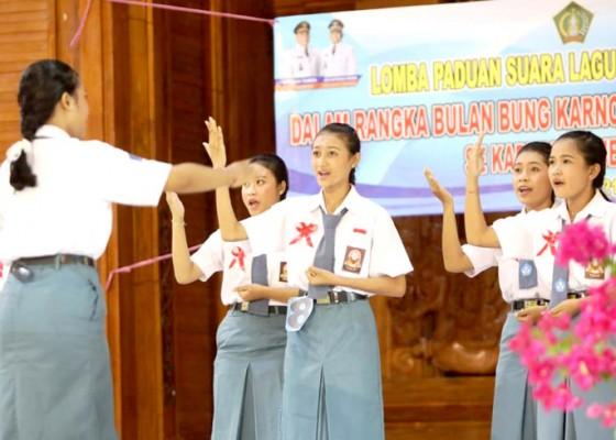 Nusabali.com - bulan-bung-karno-kesbangpol-jembrana-gelar-lomba-paduan-suara