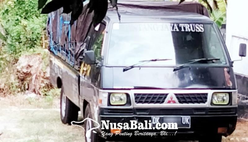 www.nusabali.com-polisi-amankan-mobil-pengangkut-kayu-diduga-hasil-pembalakan-liar