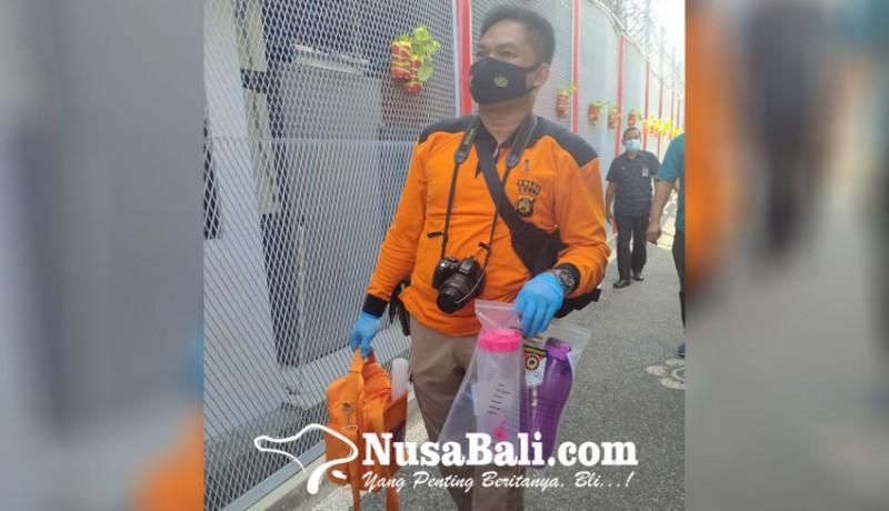 www.nusabali.com-polsek-kuta-utara-olah-tkp-oplosan-disinfektan-dan-serbuk-jeruk-di-lapas-perempuan-kerobokan
