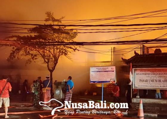 Nusabali.com - pasar-umum-blahbatuh-gianyar-kebakaran