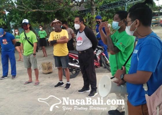 Nusabali.com - world-sea-turtle-day-diperingati-dengan-beach-clean-up-di-pantai-serangan