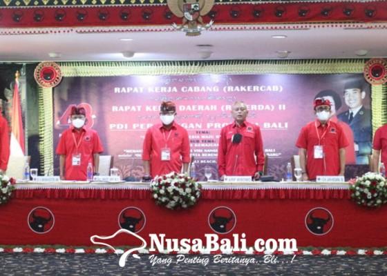 Nusabali.com - pdip-target-hat-trick-di-pemilu-2024