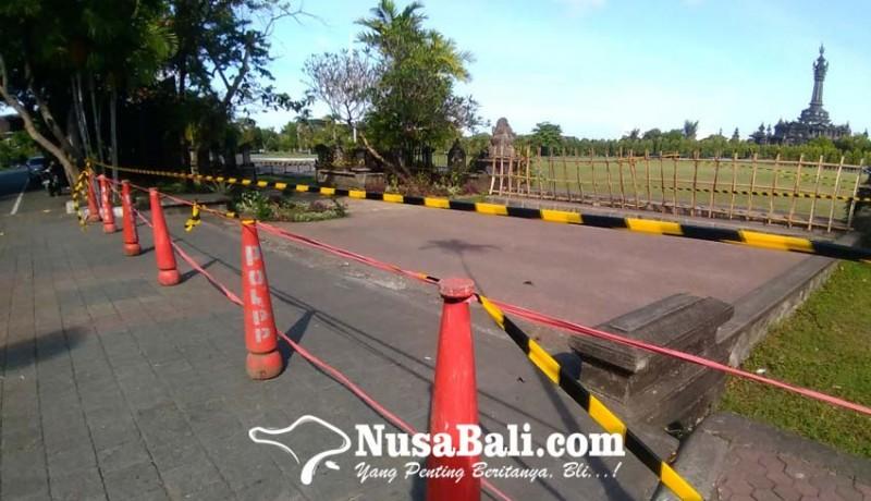 www.nusabali.com-kasus-corona-melonjak-lapangan-niti-mandala-denpasar-ditutup