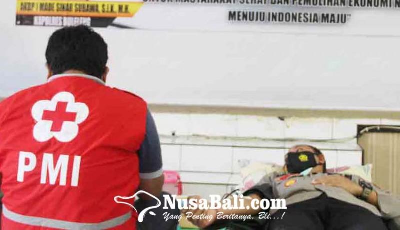 www.nusabali.com-puluhan-personel-polres-buleleng-donor-darah