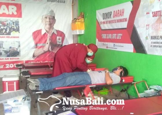 Nusabali.com - warmadewa-first-aid-competition-ksr-pmi-universitas-warmadewa-gelar-donor-darah
