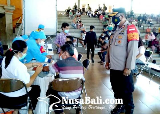 Nusabali.com - 1268-warga-divaksin-pada-hut-ke-75-bhayangkara
