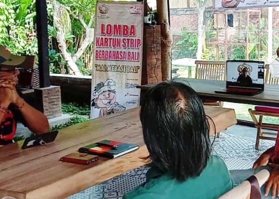 Nusabali.com - yayasan-puri-kauhan-ubud-gelar-lomba-kartun-strip-berbahasa-bali-pertama-di-bali