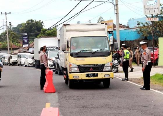 Nusabali.com - sebanyak-93-kendaraan-diputar-balik-di-pos-pancasari