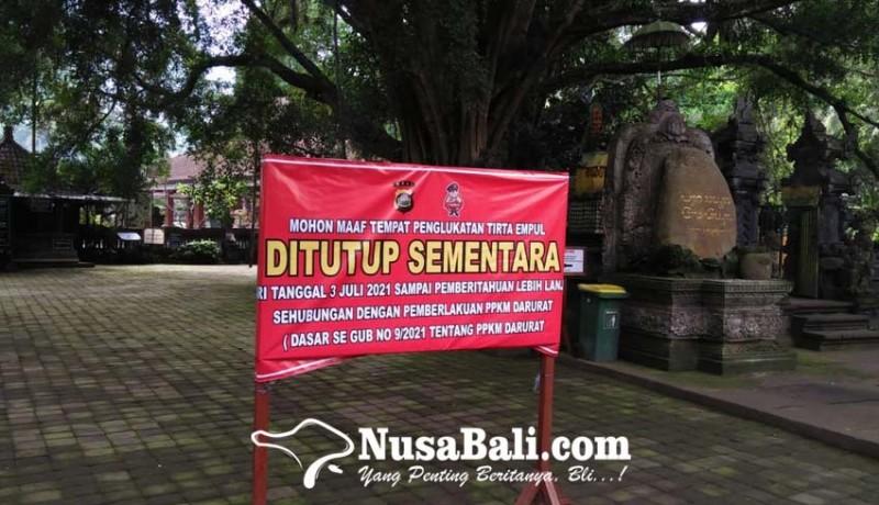 www.nusabali.com-pura-tirta-empul-hanya-izinkan-nunas-tirta-saat-ppkm-darurat