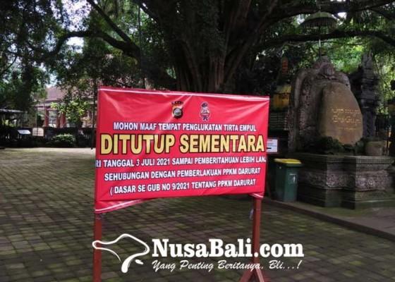 Nusabali.com - pura-tirta-empul-hanya-izinkan-nunas-tirta-saat-ppkm-darurat