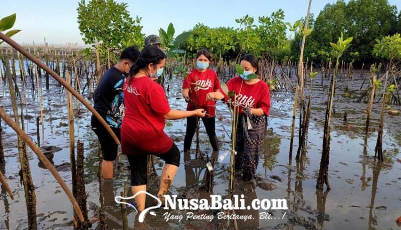 www.nusabali.com-wujudkan-cinta-nyata-pada-bumi-sse-2021-stiki-tanam-mangrove