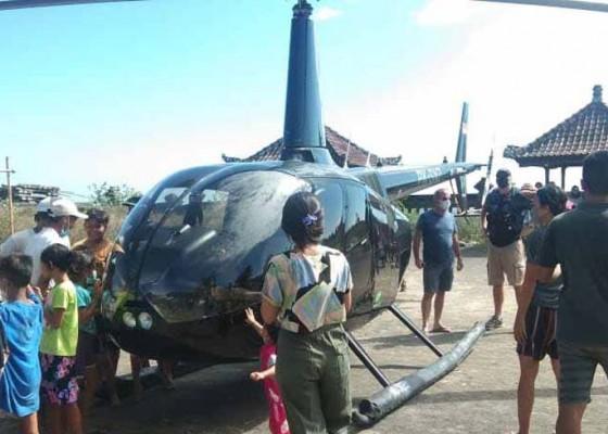 Nusabali.com - heli-mendarat-darurat-di-objek-wisata-tirta-amed