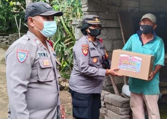 Nusabali.com - polisi-secara-estafet-berbagi-sembako