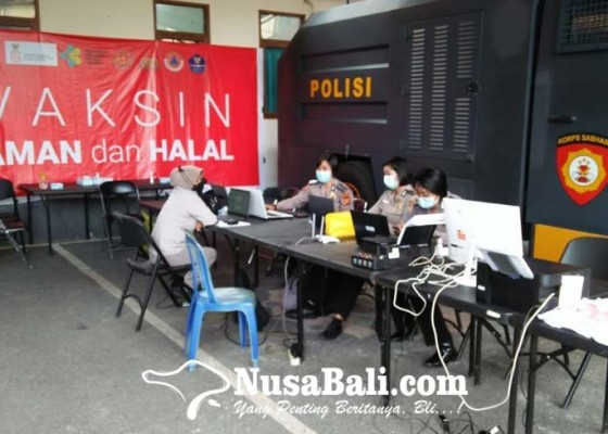 Nusabali.com - gerai-vaksin-presisi-polres-gianyar-sudah-layani-lebih-6000-warga