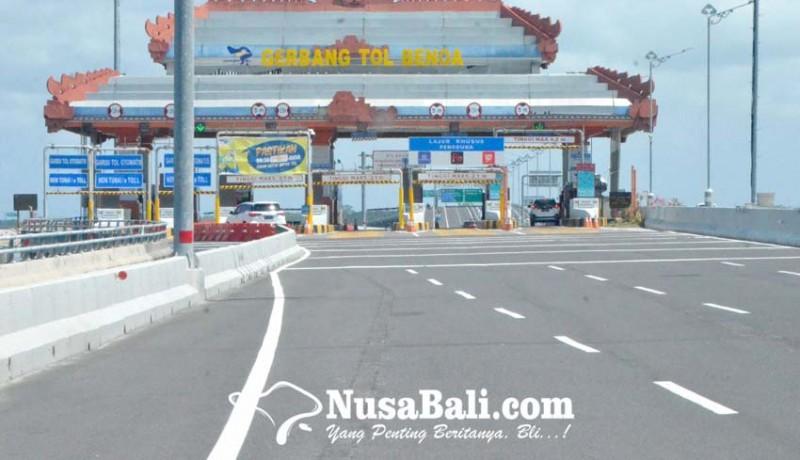 www.nusabali.com-kendaraan-masuk-tol-turun-30-persen