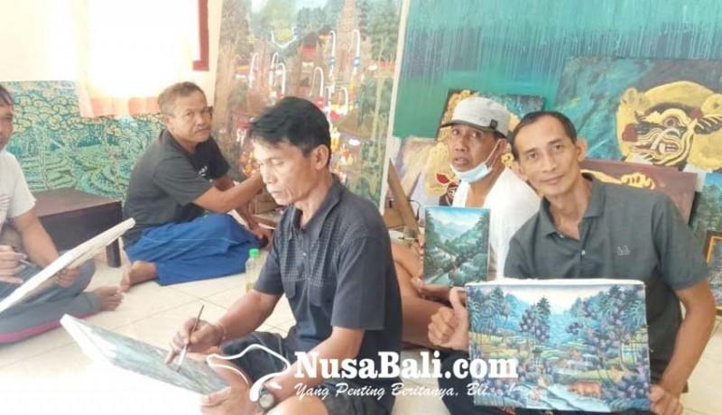 www.nusabali.com-pelukis-banjar-kutuh-pertahankan-gaya-young-artist-di-tengah-krisis