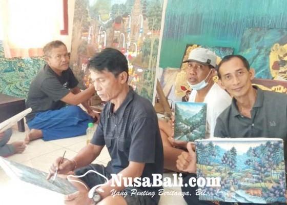 Nusabali.com - pelukis-banjar-kutuh-pertahankan-gaya-young-artist-di-tengah-krisis