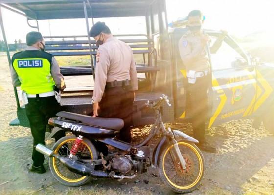 Nusabali.com - balap-liar-polisi-amankan-2-motor-pelaku