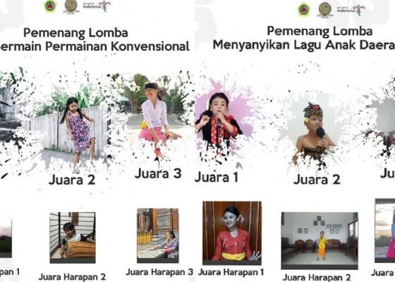 Nusabali.com - sambut-hari-anak-nasional-45-anak-anak-ikuti-lomba-gianyar-ceria